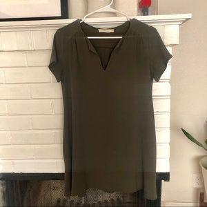 Lush Army Green Long Tunic